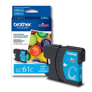 CARTOUCHE BROTHER CYAN #LC61CS