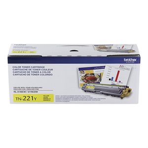 CARTOUCHE LASER BROTHER #TN221Y JAUNE (1400PAGES)