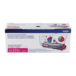 CARTOUCHE LASER BROTHER #TN225M MAGENTA (2200PAGES)