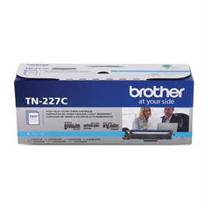 CARTOUCHE LASER BROTHER #TN227C CYAN (2300PAGES)