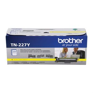 CARTOUCHE LASER BROTHER #TN227Y JAUNE (2300PAGES)